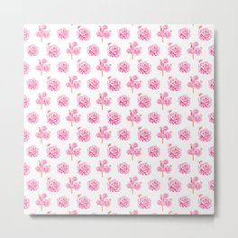 Rose Pop Pattern Metal Print