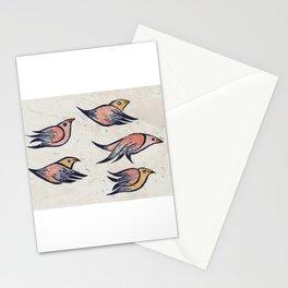 VueloIII  Original linocut print Stationery Cards