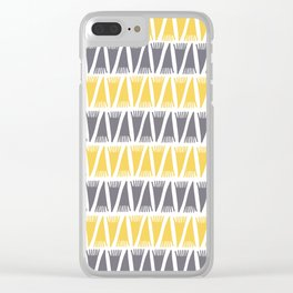 Tee Pee Primrose Yellow Clear iPhone Case