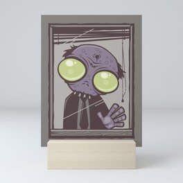 Office Zombie Mini Art Print
