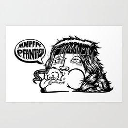 Rambo dinner Art Print