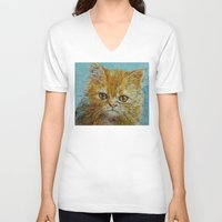 van gogh V-neck T-shirts featuring Van Gogh by Michael Creese