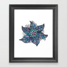Line Floral Framed Art Print