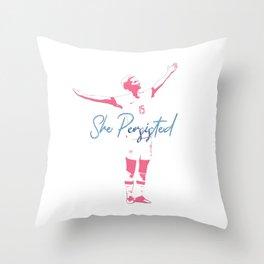 Rapinoe She Persisted Throw Pillow