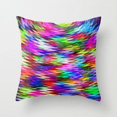 Rainbow Refraction Throw Pillow