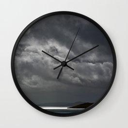 Cloudy island Wall Clock
