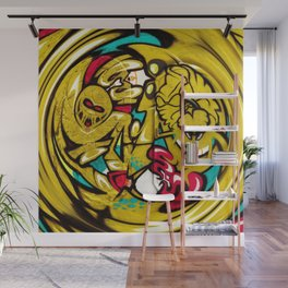 Glitch Graffiti Wall Mural