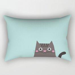 Peek-a-boo cat Rectangular Pillow