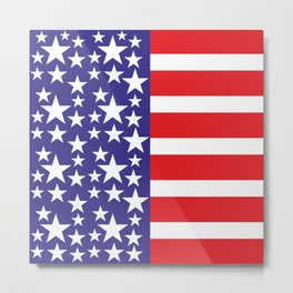 Flag of the United States of America. USA #society6 #decor #buyart #artprint Metal Print