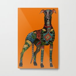 greyhound orange Metal Print