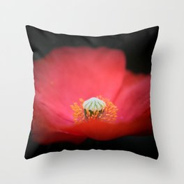 Red flower India Throw Pillow