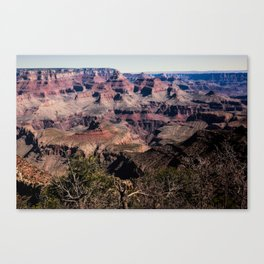 Grand Canyon - Colorful Layers Etched by Time in Desert Southwest Canvas Print