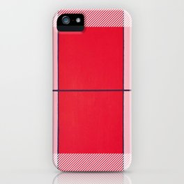August - thin line graphic iPhone Case