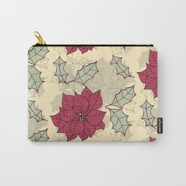 Poinsettia Christmas pattern design Carry-All Pouch