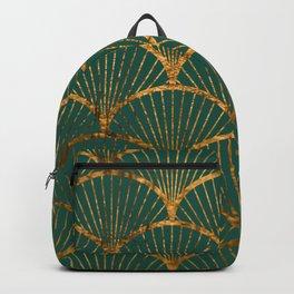 Emeral gold petal pattern Backpack
