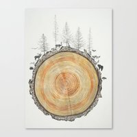 tree rings Canvas Prints featuring Tree Rings by dreamshade