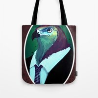 lawyer Tote Bags featuring lawyer by Filip Radulescu