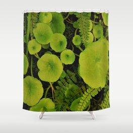 Little green world Shower Curtain