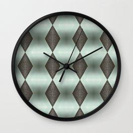 Mint Green, Cream & Chocolate Brown No. 5 Wall Clock