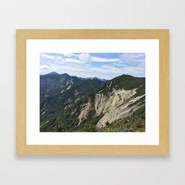 Sawteeth Summit Framed Art Print