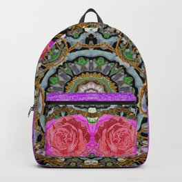 roses in a color cascade of freedom and peace Backpack