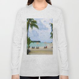 A Dreamy Day at a Tahitian Beach, Bora Bora Long Sleeve T-shirt