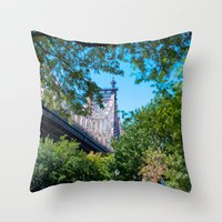 queens of the stone age Throw Pillows featuring Queens by Anna Harding