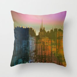 Lights close to the Harbor / Urban Fantasy 14-01-17 Throw Pillow