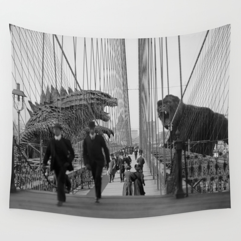 Old Time Godzilla Vs. King Kong Hanging by Taylor_holmes TPS6850196