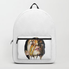 Watercolor Painting of Monica Bellucci La Manna Backpack