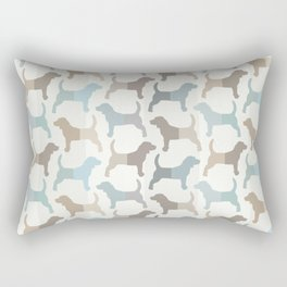 Beagle Silhouettes Pattern - Natural Colors Rectangular Pillow