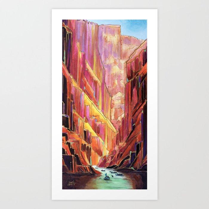 Grand Canyon Rig to Flip Abstract Canyon Art Print