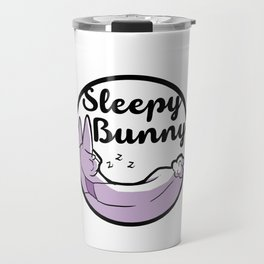 Sleepy Bunny Logo Travel Mug