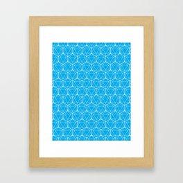 Icosahedron Pattern Bright Blue Framed Art Print