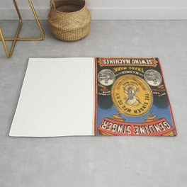 Vintage poster - Singer Sewing Machine Rug
