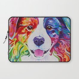 Rainbow Border Collie - Toby Laptop Sleeve