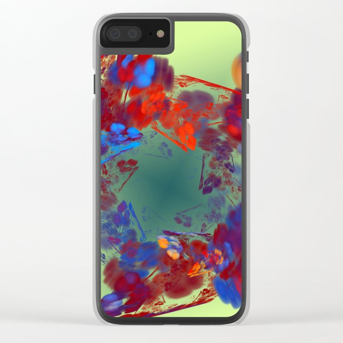 The Flower I Love Clear iPhone Case