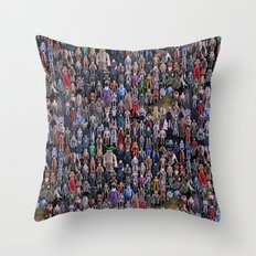 Star Wars Vintage Figures Collage Throw Pillow