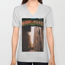Post Alley in Seattle Washington Unisex V-Neck