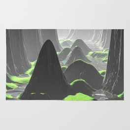 Foggy Canyon Walls Rug