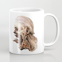pain Mugs featuring Pain by Roland Prinsler