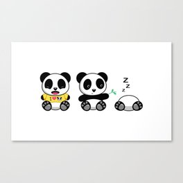 Three Little Pandas Canvas Print