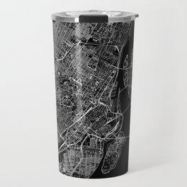 Montreal Black Map Travel Mug