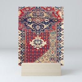 Bidjar Wagireh Northwest Persian Sampler Rug Print Mini Art Print