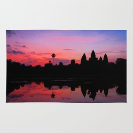 Angkor Wat Sunrise Reflection Rug