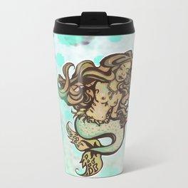 Mermaid Meditation Metal Travel Mug