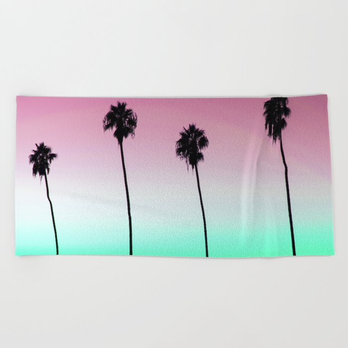 Pastel Palm trees Beach Towel