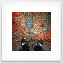 Standing Atop Greatness Framed Art Print