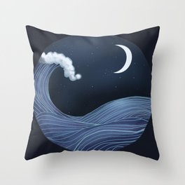 In the Ocean Waves Throw Pillow