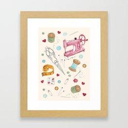 Sewing Framed Art Print